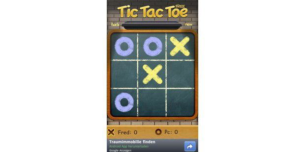 "Android-App ""Tic Tac Toe Free"""