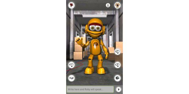 "Android-App ""Talking Roby the Robot"""