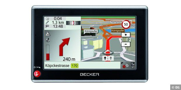 Navi mit Split Screen: Becker Traffic Assist Z203