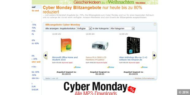 Cyber Monday bei Amazon.de