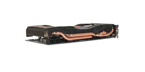 Effiziente Wärmeleiter: Die vier Kupfer-Heatpipes derGigabyte GV-N460SO-1GI.