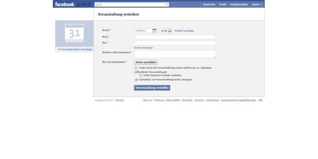 """Facebook-Party: """"Einzelheiten hinzufügen"""""""