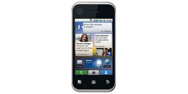 Bedienoberfläche Motoblur auf dem MotorolaBackflip