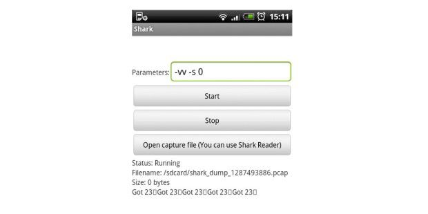Shark for Root ist ein Wireshark-Client für Android.