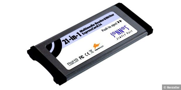 21-in-1 Multimedia Memory Card Reader & Writer ExpressCard 34