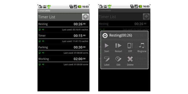 Timers4Me ist eine bequeme und flexible Verwaltungs-App für Countdowns.