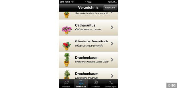 iPhone-App Koubachi