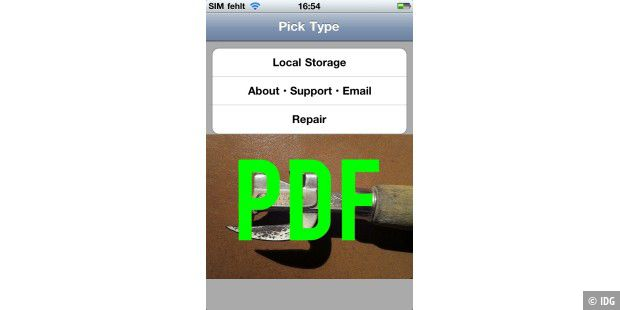 "iPhone-App ""PDF Reader"""