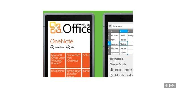 Office Mobile für Windows Phone 7
