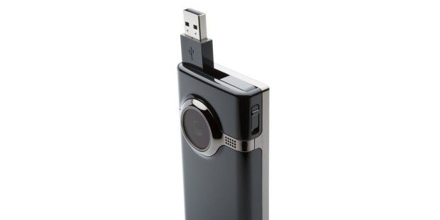 Mini-HD-Camcorder Cisco Flip Mino HD: Kommt per USB an den PC