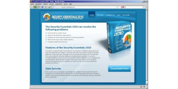 Scareware Security Essentials 2010