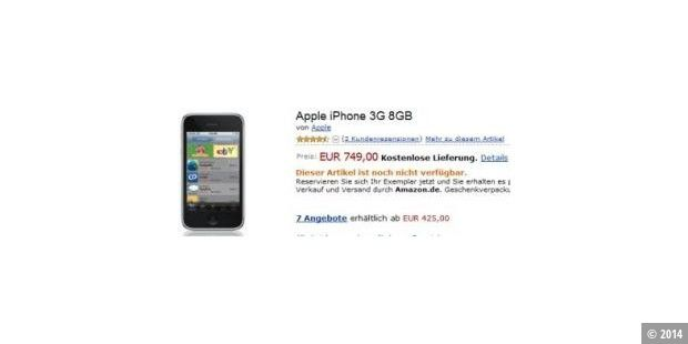 iPhone 3G bei Amazon