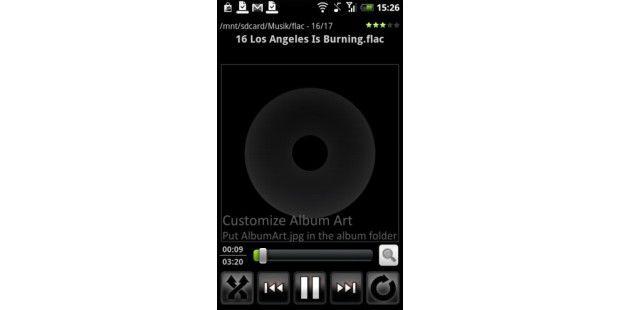 Neben MP3 kommt die App dank einem Plugin auch mit FLAC zurecht.