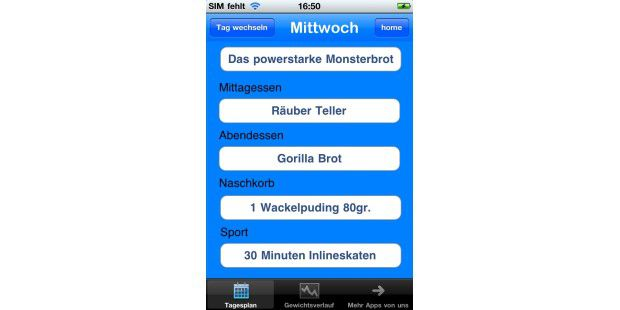 "iPhone-App ""Diät Kids"""