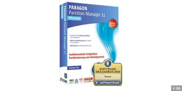 Paragon Partition Manager 11 Personal Edition
