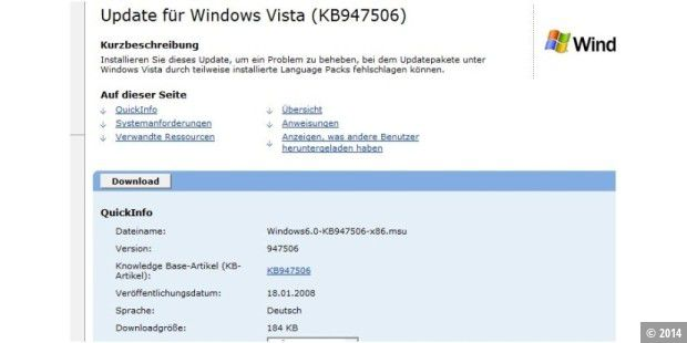 Vista-Update behebt Sprachpaket-Probleme