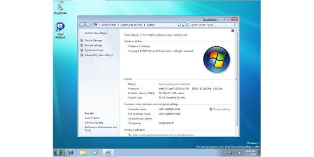 Windows 7 Build 7022