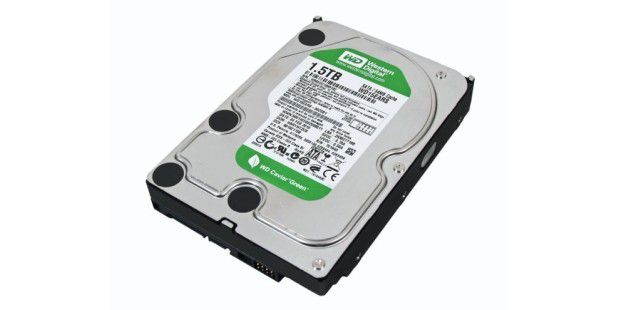 Platz 3 (1,5 TB): Western Digital Caviar Green WD15EARS