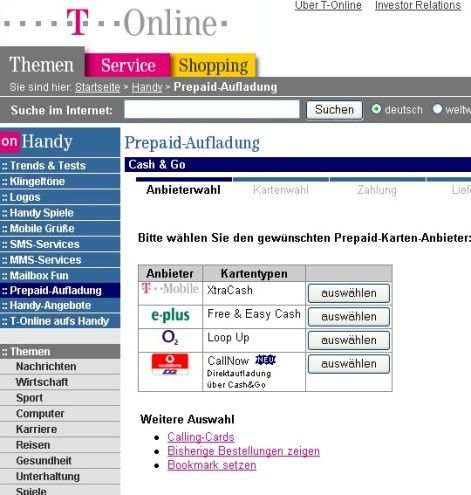 Prepaid Handys Bequem Per Internet Aufladen Pc Welt