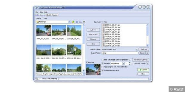 Download-Tipp: Faststone Photo Resizer