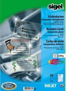 Transparente Visitenkarten Selbst Drucken Pc Welt