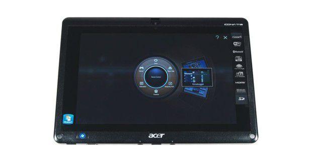 Acer Ring: Auf dem Iconia W500 soll eine touch-optimierteBenuterzoberfläche die Bedienung vereinfachen