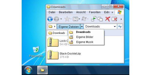 Seven VG Design machts möglich: täuschend echtes Windows 7 Design unter XP