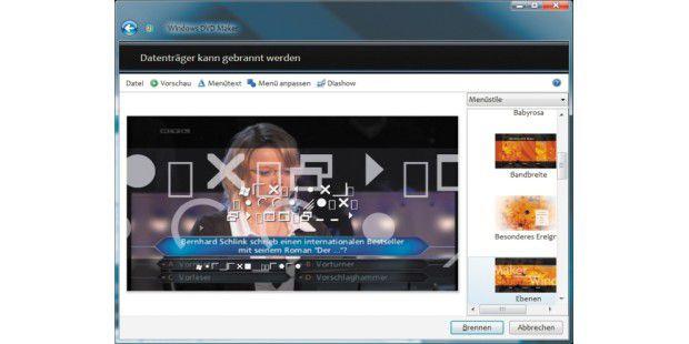 Der DVD-Maker nutzt fälschlicherweise den System-Font Marlett