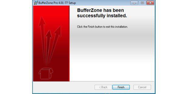 BufferZone_Pro 4 brilliert durch schnelle Installation.