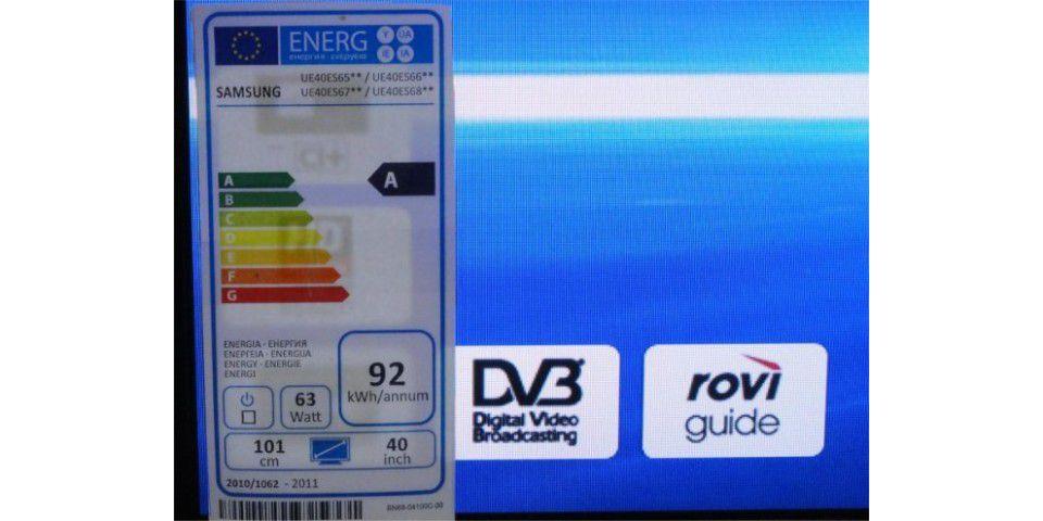 Energielabel sind bei Fernsehern Pflicht