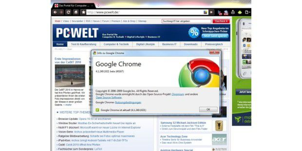 Google Chrome 4.1 Beta