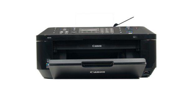 Canon Pixma MX410: Allround-Kombigerät fürs Heimbüro mit Fax und WLAN, allerdings mit hohen Tinten-Folgekosten.