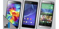 Galaxy S5 vs. HTC One vs. Xperia Z2 - Video