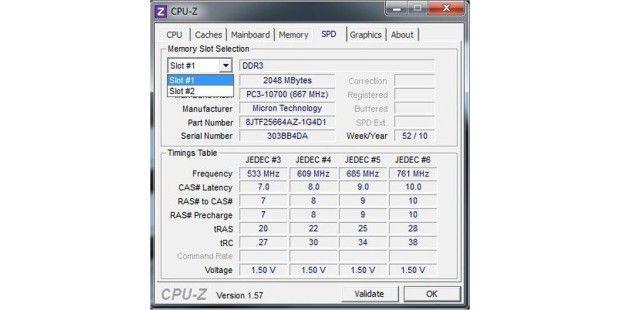 Die beiden 2-GB-Speichermodule des Aldi-PC Medion AkoyaP4385 D im Detail