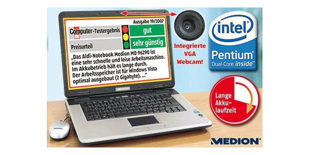 Medion 15,4 Zoll Notebook