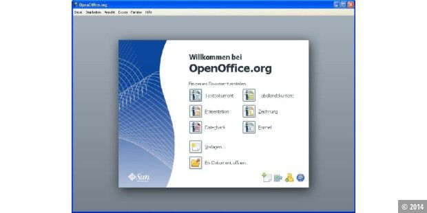 Das Start-Center in Openoffice.org 3.0