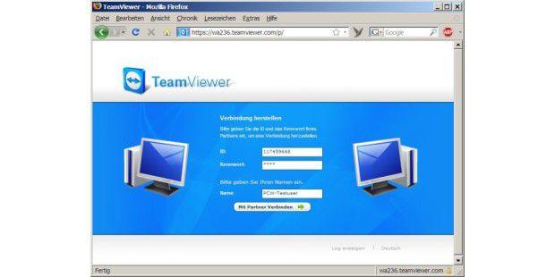Hilfe aus der Ferne: Team Viewer ermöglicht Fernwartung auch über ein Browser-Interface