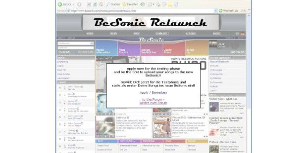 Besonic Relaunch-Webseite