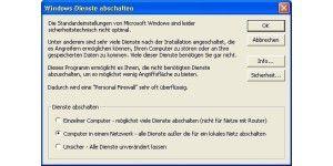 Windows-Dienste abschalten