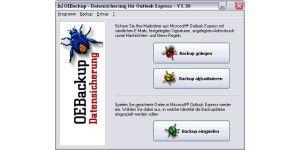 Outlook Express Datensicherung 3.40