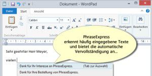 Office-Tool: PhraseExpress