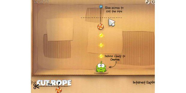 Cut the Rope als Gratis-Browser-Spiel
