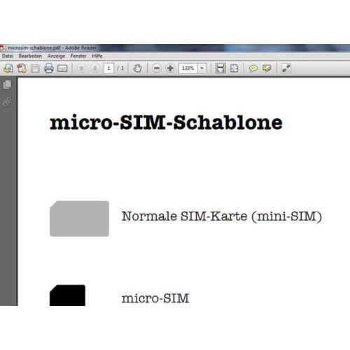schablone micro sim iphone 4