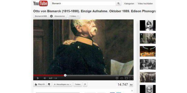 Ton-Aufnahme von Otto von Bismarck entdeckt