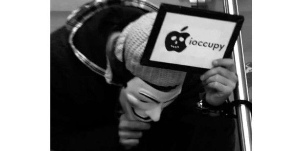 Occupy besetzt Apple-Filiale in Hamburg