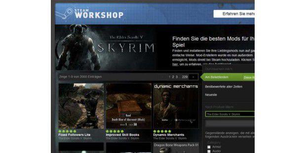 Der Skyrim Steam Workshop erhöht den Langzeit-Spielspaß mit Skyrim