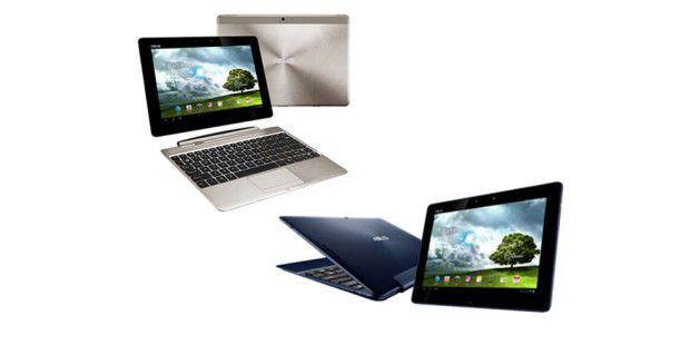 Asus stellt auf dem Mobile World Congress die zwei weitere Tablets aus der Transformer-Reihe vor: das Pad Infinity (links) und das Pad 300 (recht).