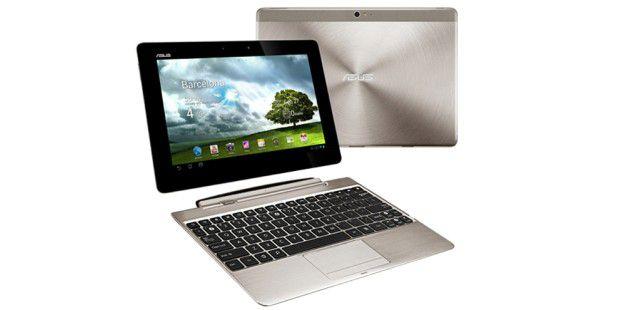 Asus stellt das Tablet Transformer Pad Infinity auf demMWC vor.