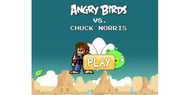 Chuck Norris vs. Angry Birds