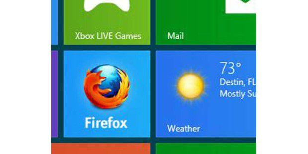 Firefox-Kachel auf der Metro-UI von Windows 8